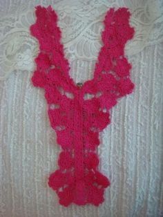 1-crochet-flower-V-neck-long-applique-metal-button-pink-yellow-off-white-B4