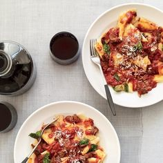 Beef Brasato with Pappardelle and Mint // More Recipes by Chris Cosentino: http://www.foodandwine.com/slideshows/chris-cosentino #foodandwine