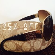 """Selling this """"Coach sunnies."""" in my Poshmark closet! My username is: algal39. #shopmycloset #poshmark #fashion #shopping #style #forsale #Coach #Accessories"""