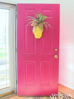 Embrace My Space: Pineapple Door Decor