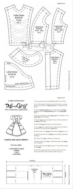 Ideas sewing accessories diy ag dolls for 2019 Doll Dress Patterns, Barbie Patterns, Sewing Patterns For Kids, Clothing Patterns, Sewing Clothes Women, Girl Doll Clothes, Barbie Clothes, Diy Clothes, Girl Dolls