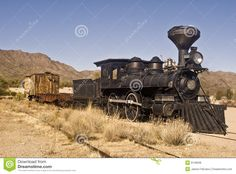 Old Western Trains | This is a picture of an old western train outside of Tucson, Arizona.
