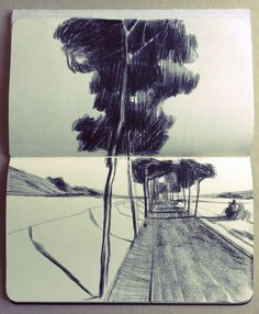 Moleskine | Cafe Wha? - BRAND NEW and stunning section added to Andrea Serio's blog. Beautiful moleskine sketches.