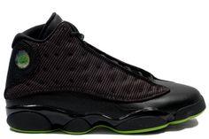 quite nice f0ca1 8bd3b Cheap Discount Nike Air Jordan 13 Mesh Phat Retro Black And Altitude Green  Sneaker Clearance Store