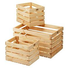 Trälådor 3 delar | Tre lådor - två storlekar | Jula