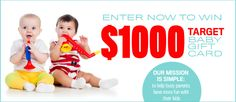 Enter now to win $1000 Target Baby gift card from Red Tricycle Bump + Baby. Red Tricycle's Bump + Baby helps you get the most out of pregnancy and the early stages of parenting by dishing on the latest products and gear, style and design, celebrations and services, and creative ideas.