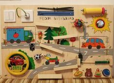 Busy Board Cars Activity-Board sensorische von Woodledoodleshop