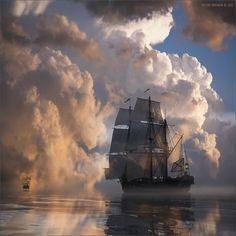 Barcos sobre el Mar