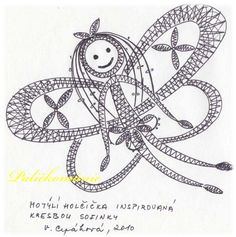 Billedresultat for podvinky Bobbin Lacemaking, Lace Heart, Lace Jewelry, Lace Making, Lace Patterns, Zentangle, Lace Detail, Butterfly, Symbols