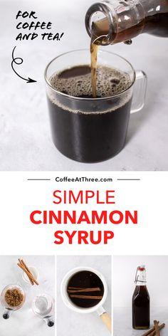 Cinnamon Syrup, Cinnamon Tea, Tea Recipes, Coffee Recipes, Syrup Recipes, Sauce Recipes, Sugar Free Coffee Syrup, Sugar Free Vanilla Syrup, Health