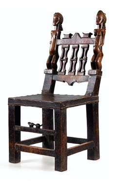 Africa | chair from the Baule people of the Ivory Coast | Wood
