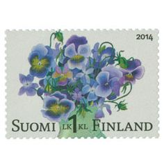 Stamps, Paper, Finland, Thoughts, Plants, Flowers, Postage Stamps, Seals, Stamp