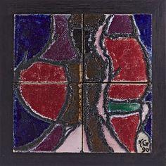 KONRAD GALAAEN RØROS 1923  Veggrelieff Studioarbeide/Porsgrund Porselen. 1990. Pottery Art, Scandinavian, Ceramics, Glass, Painting, Ceramica, Drinkware, Painting Art, Ceramic Art