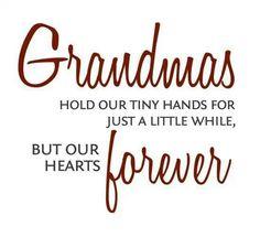 I will always hold my grandchildren.