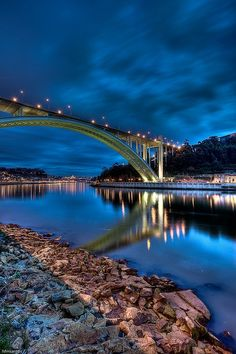 Portugal - beautifull Porto - one of the bridges over de Douro River - www. Great Places, Places To See, Places Around The World, Around The Worlds, Beautiful World, Beautiful Places, Douro, Spain And Portugal, Visit Portugal
