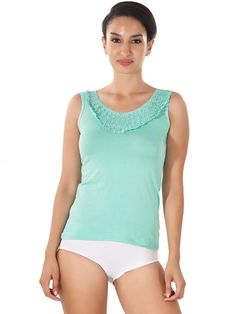 Shyle Green Tank top Lace Camisole