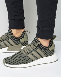 dikke Adidas Originals  NMD_R2 In Green BA7198