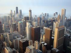 Chicago::Chicago Skyline @ Sears Tower with my friend Debbie - a shopping tour of the windy city.