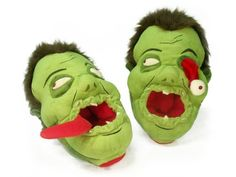 Toy Vault Zombies Afoot Plush Slippers @ niftywarehouse.com #NiftyWarehouse #Zombie #Horror #Zombies #Halloween
