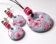 Polymer Clay Millefiori Jewelry Set by me