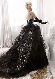 when black creates beauty Black Wedding Dress