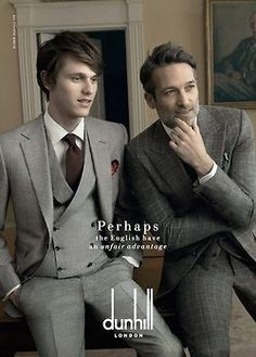 DUNHILL Fall/Winter 2014 campaign  Andrew Cooper, Norbert Michalke and Tara Ferry by Annie Leibovitz