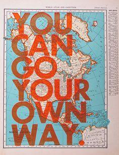 so love. letterpressed on vintage maps