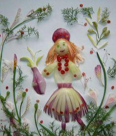 Vegetable painting by Ukrainian food artist Tamara Bondar - Art Kaleidoscope L'art Du Fruit, Fruit Art, Fruits Decoration, Vegetable Painting, Bread Art, Bread Shaping, Unique Facts, Cute Snacks, Food Artists