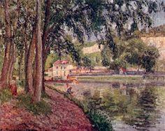"""""""Chemin de halage à Saint-Mammès"""", 1902. Camille Pissarro"""