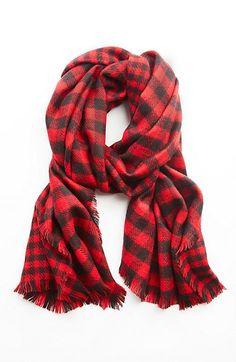 mixed buffalo-plaid scarf Tunic Sweater, Comfortable Outfits, Buffalo Plaid  Scarf, Fall 1275ced859