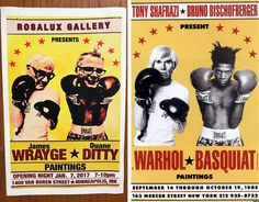 Rosalux Gallery imitates the iconic 1985 poster featuring Warhol and Basquiat