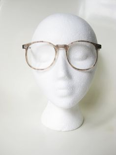 acd24a2c99 1960s Round Eyeglasses Mens Tart Optical Fawn Light Brown Round Eyeglasses