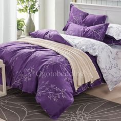 quality purple patterned luxury high end Duvet Covers on sale [OBCS072309] - $69.99 :