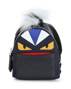 Micro Monster Backpack-Shaped Charm  by Fendi at Neiman Marcus.