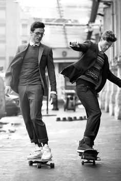 And how do you get to work? #skateboarding #suitup
