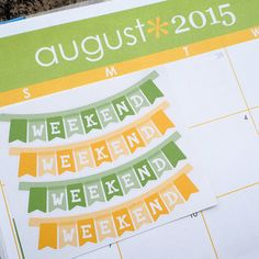 4 August Weekend Banner Sticker Planner // Perfect for Erin Condren Life Planner by FasyShop on Etsy