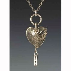 Sherri Cohen Design Mended Heart With Love Necklace Artistic