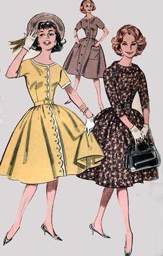 Vintage 60s Sewing Pattern Butterick 9428 Womens door sandritocat
