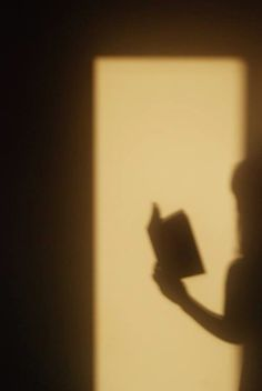 reading book shadow