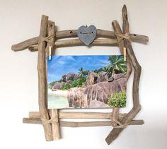 Cadre photo en bois flott par l 39 atelier de corinne - Cadre en bois flotte decoration ...