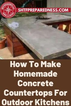 Do you want to build a durable outdoor kitchen? If so, you should take a look at this article by SHTF Preparedness to learn how to make homemade concrete countertops. Making sure that your outdoor kitchen is durable and will last for a long time is vital, so don't make any mistakes and check out this article now for more. #outdoorkitchen #durablekitchen #outdoorkitchenideas Outdoor Projects, Easy Diy Projects, Garden Projects, Design Projects, Best Money Saving Tips, Concrete Countertops, How To Make Homemade, Useful Life Hacks, Shtf