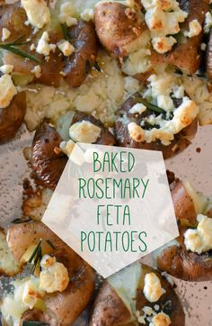 Baked Rosemary Feta #Potatoes