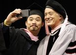 Jimmy Page charms, inspires Berklee grads