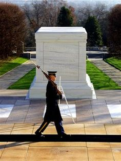 Arlington National Cemetery. Changing of the guard. You can hear a pin drop! Such precision!!!!