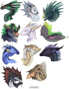 Dragon Heads 1 by ~neondragon on deviantART