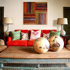 wonderful way to bring a bold in without overpowering the room