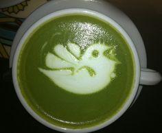 Matcha Latte Art Bird ♥ Drink