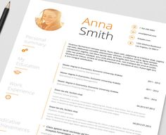 Resume Template no 1 FREE Cover letter // Instant by ResumeAngels