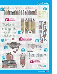 ru / Фото - Cross Stitch Crazy 191 - WhiteAngel # DIY Gifts for teachers Cross Stitch Boards, Cross Stitch Bookmarks, Mini Cross Stitch, Cross Stitch Alphabet, Cross Stitch Kits, Learn Embroidery, Cross Stitch Embroidery, Embroidery Patterns, Funny Cross Stitch Patterns