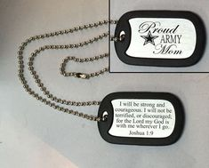 Personalized Engraved Army Mom Stainless Steel Dog Tag. Army Mom Dog tag will be a perfect gift for you any Moms of a Soldier, show it to the world proudly. Mentally Strong, Be Strong And Courageous, Stock Up On Diapers, Military Mom, Military Honors, Military Girlfriend, Burp Rags, Joshua 1 9, Marine Mom
